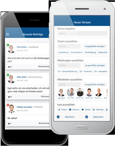 SocialBOX-App Smartphone doppelt Startseite