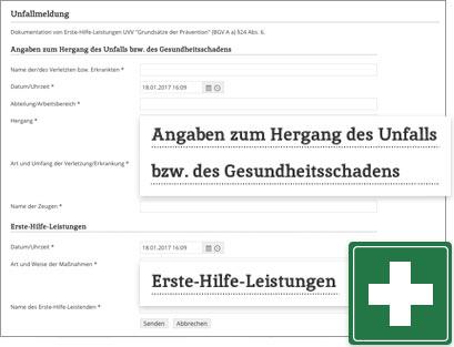 Intranet Social Software Modul Unfallmeldung