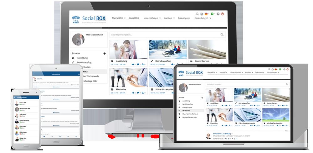 SocialBOX-App alle Geraete Desktop