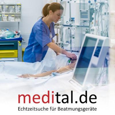 medital.de – Echtzeit-Suche für die Verfügbarkeit von Beatmungsgeräten