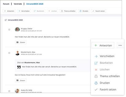 Intranet Social Software Modul Forum