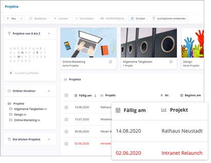 Intranet Social Software Modul Projekte