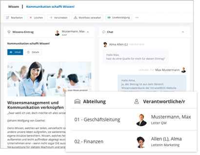 Intranet Social Software Modul Wissensmanagement