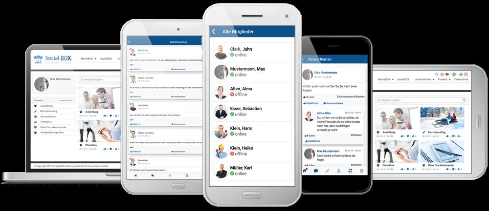 SocialBOX-App alle Geraete